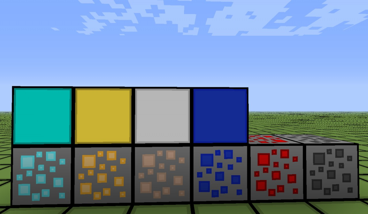 ores and blocks