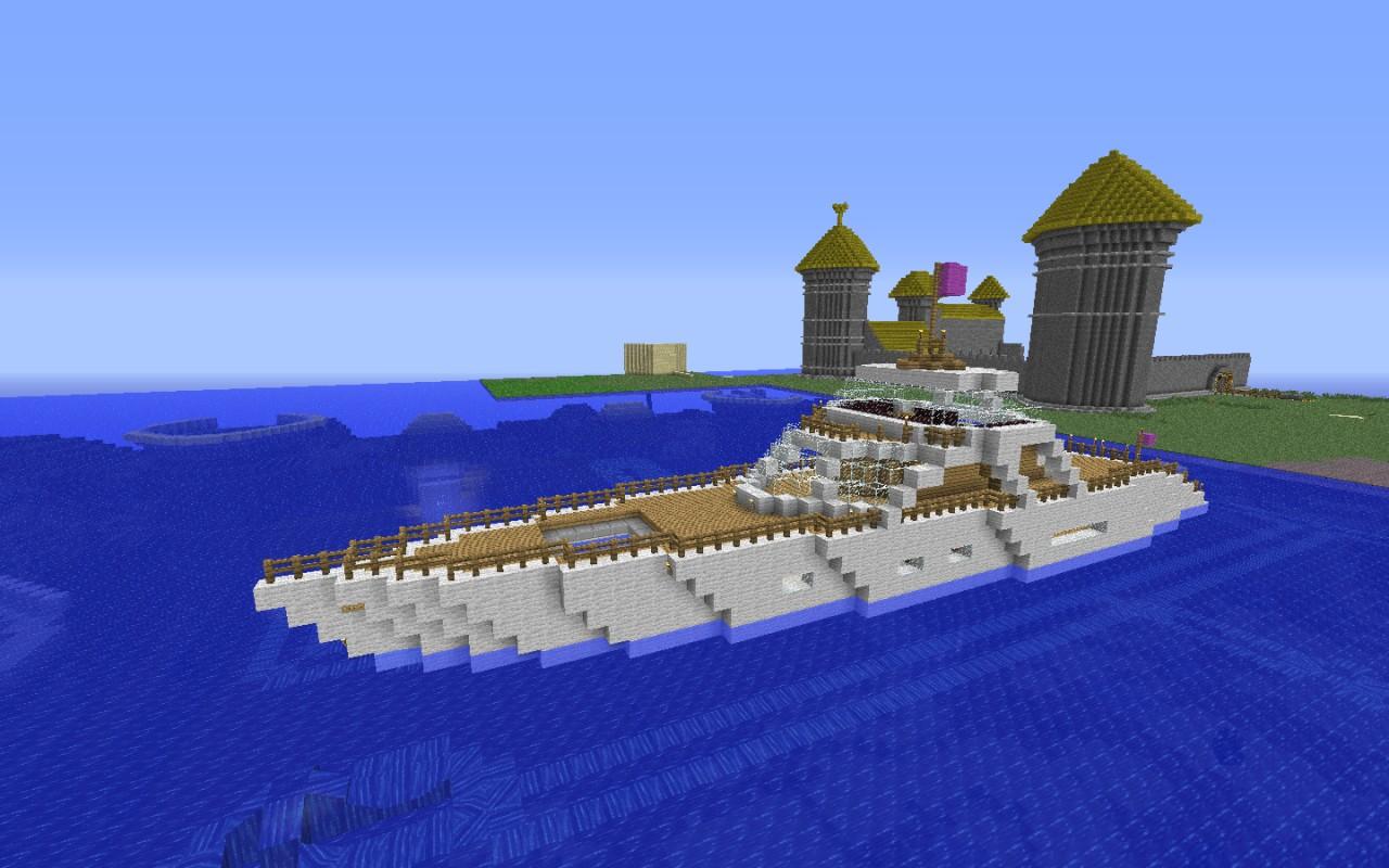 карта яхта майнкрафт #6