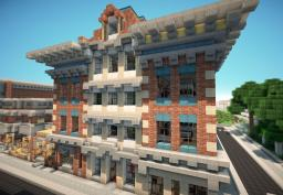Victorian style Town with Hotel on World of Keralis Minecraft Map & Project