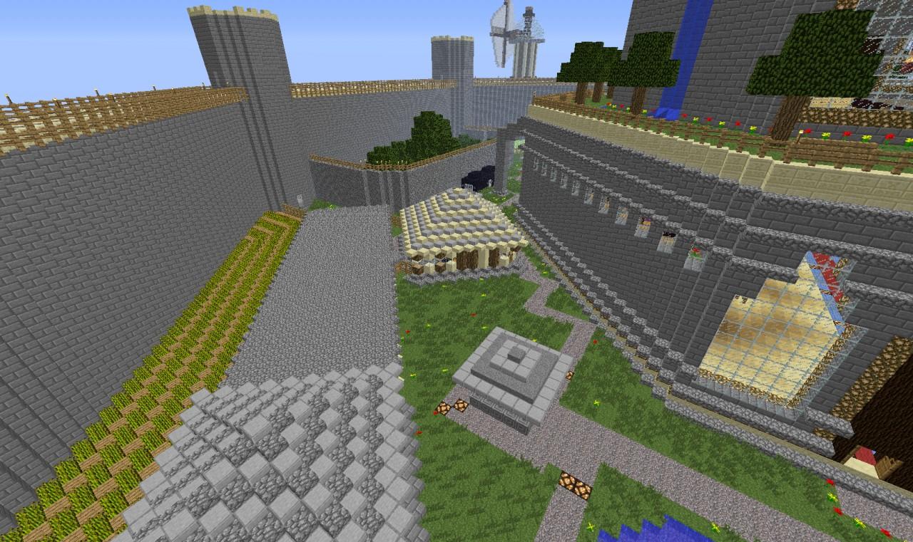 wheat farm, mushroom farm and a well