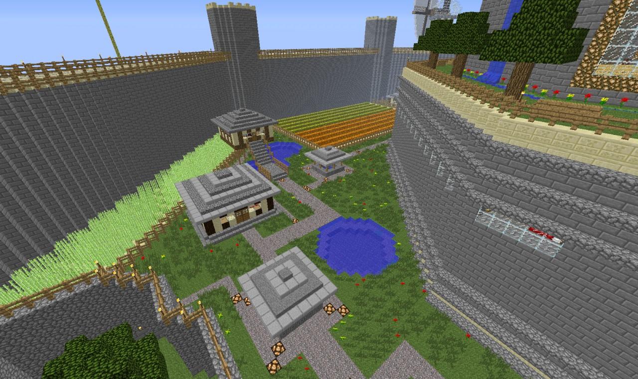 tree farm in corner, sugar cane farm, fishing pond, pumpkin/melon farm