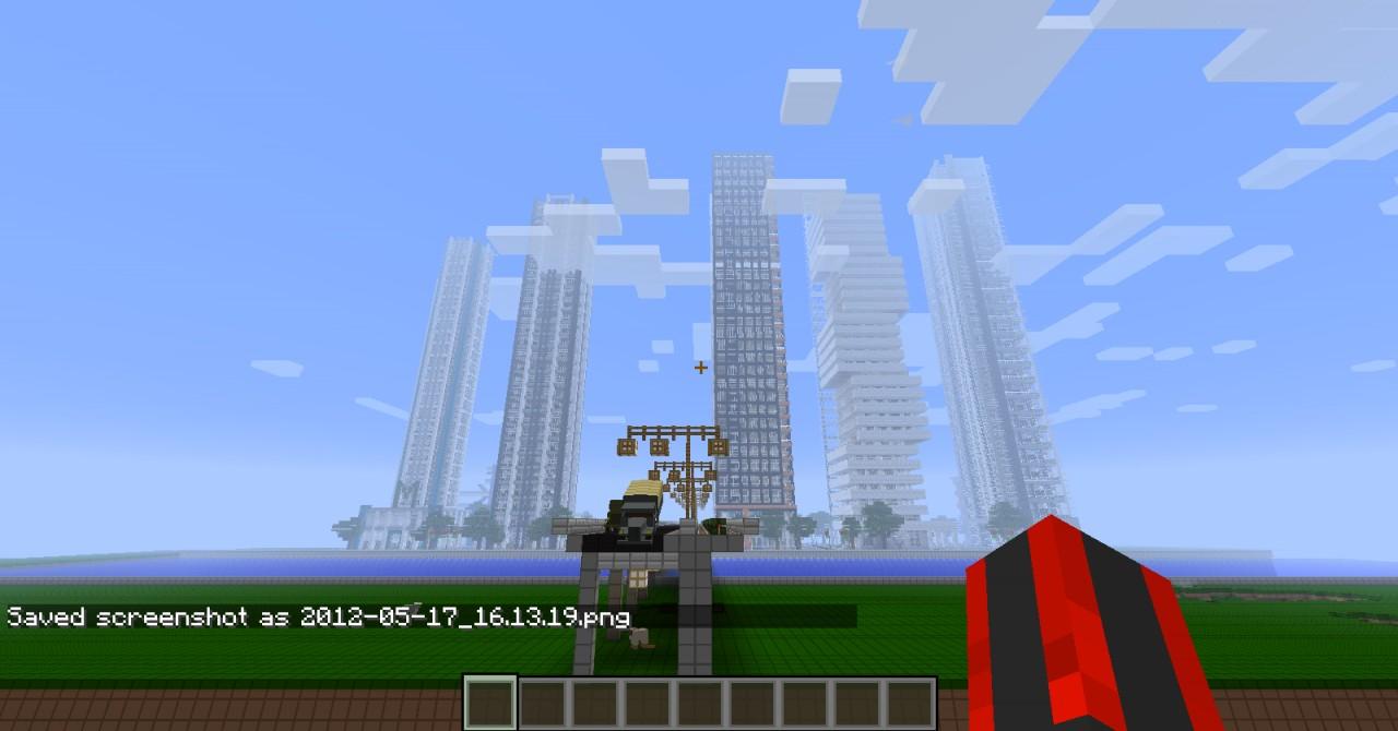 minecraft how to build a big city