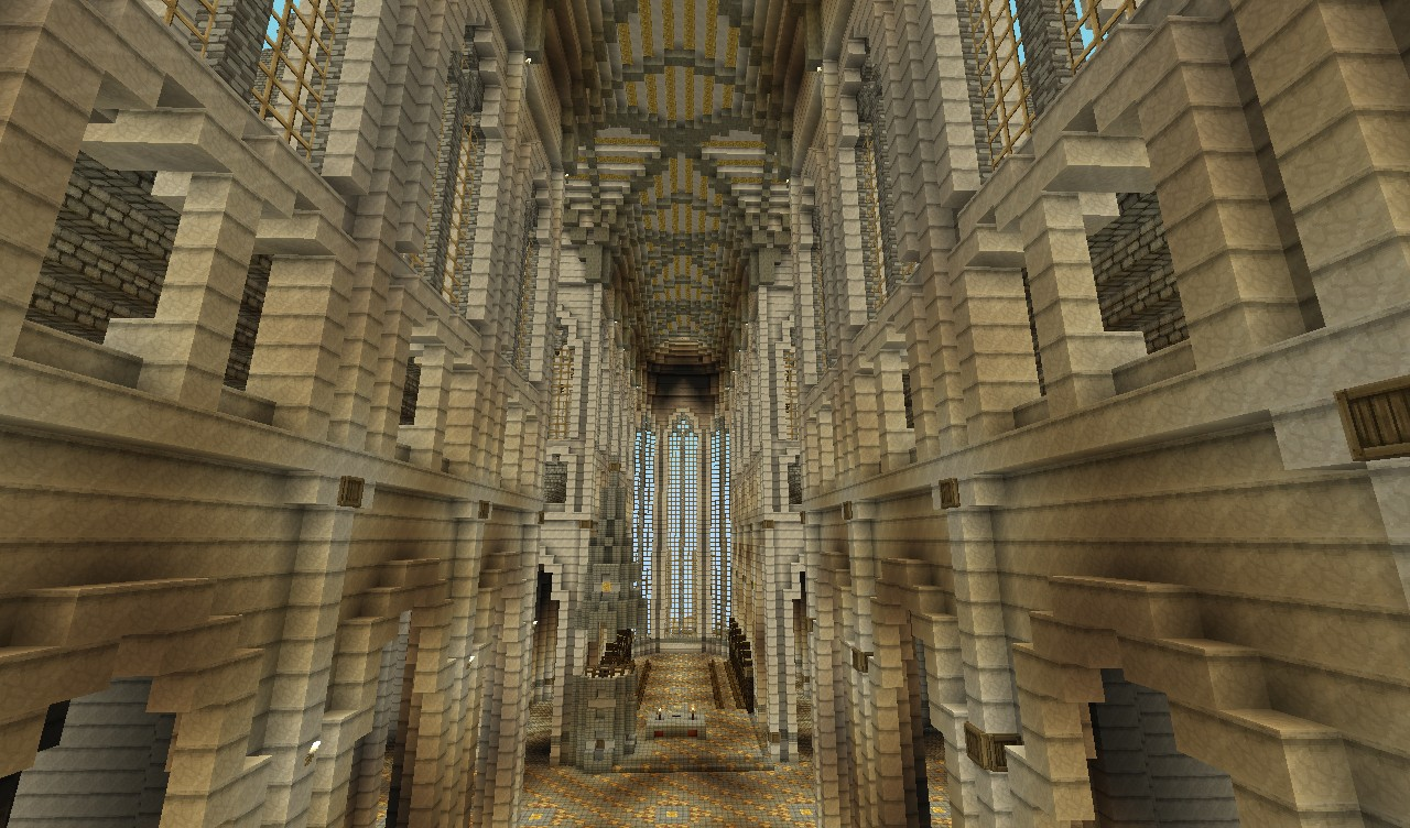 150 Blocks High Gothic Minecraft Cathedral Minecraft Project