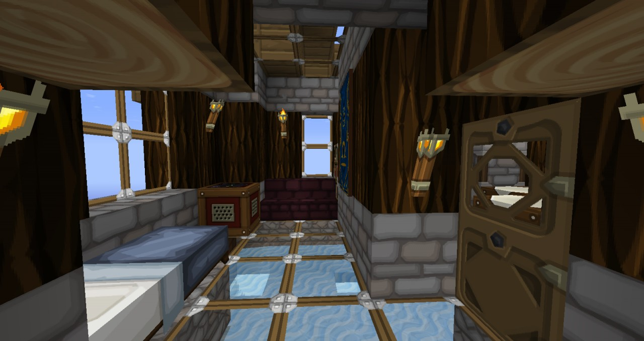 SteamPunk Flying Small House Minecraft Project