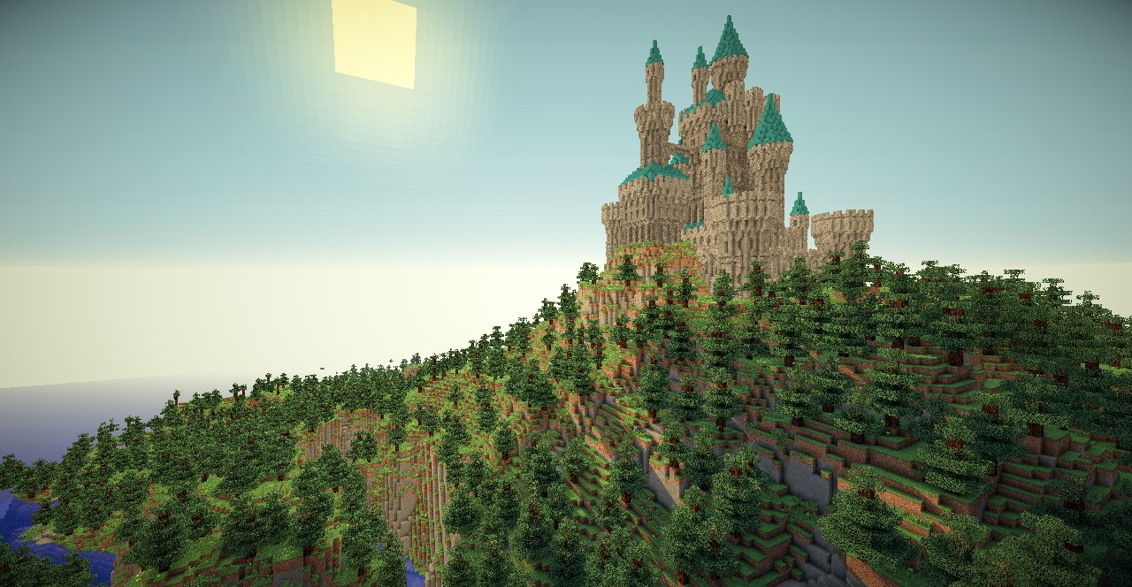 Another castle minecraft project for Case bellissime minecraft