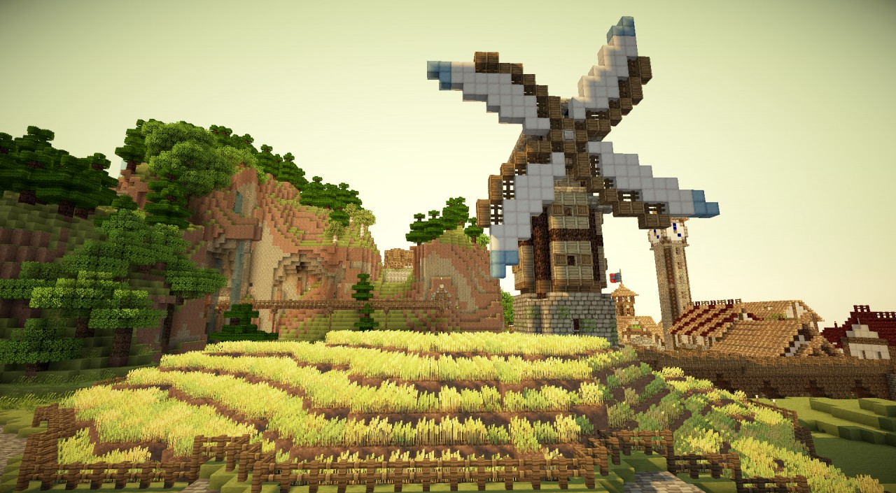 Minecraft Medieval City Download Nebux City - Windmill ...