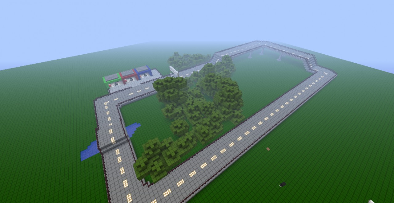 Race Track Using Mod Car Mod Minecraft Project