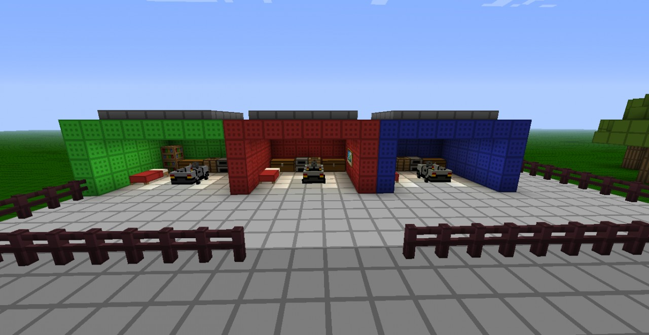 Race Track Using Mod Car Mod Minecraft Project