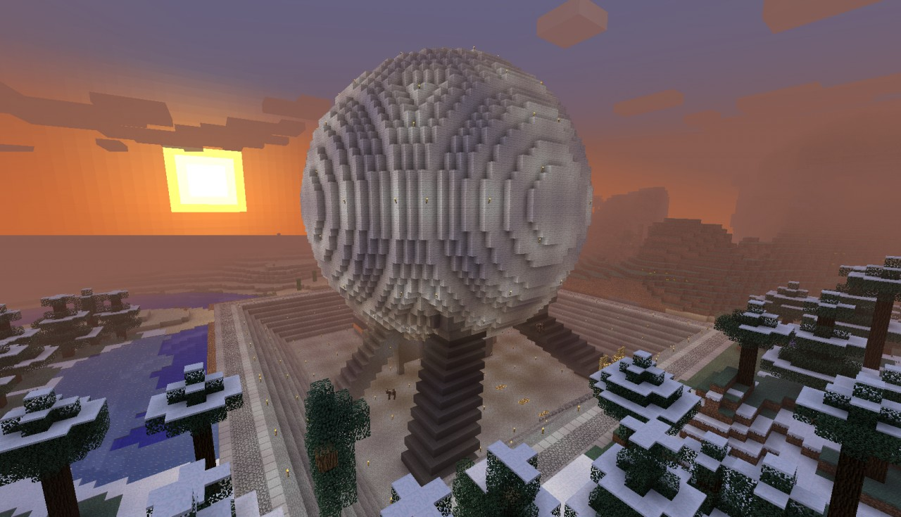 Spaceship Earth Coaster Minecraft Project
