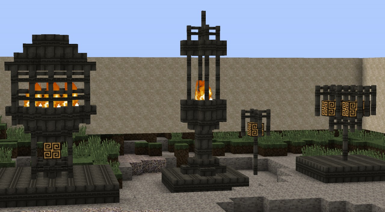 minecraft nether torch deko minecraft project. Black Bedroom Furniture Sets. Home Design Ideas