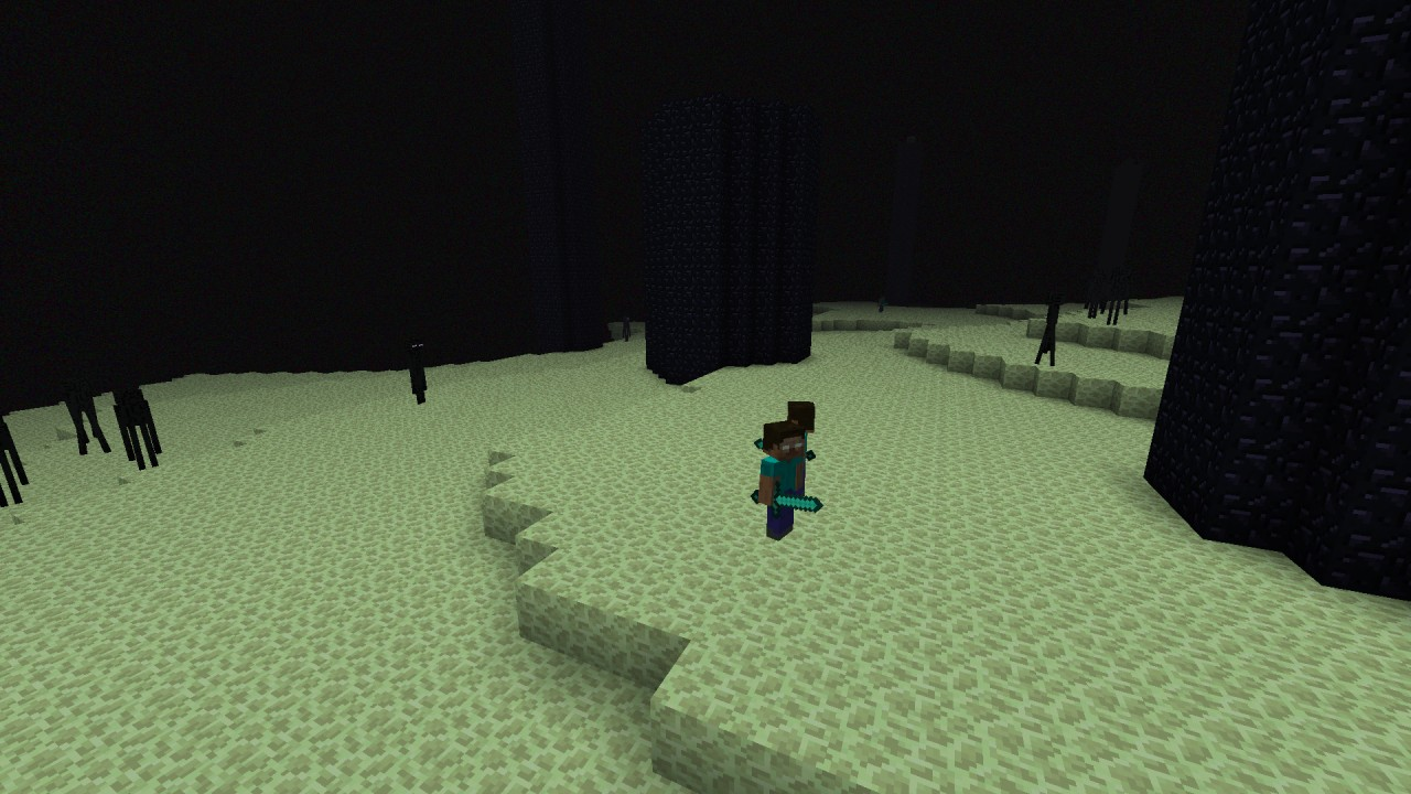 Herobrine in the end