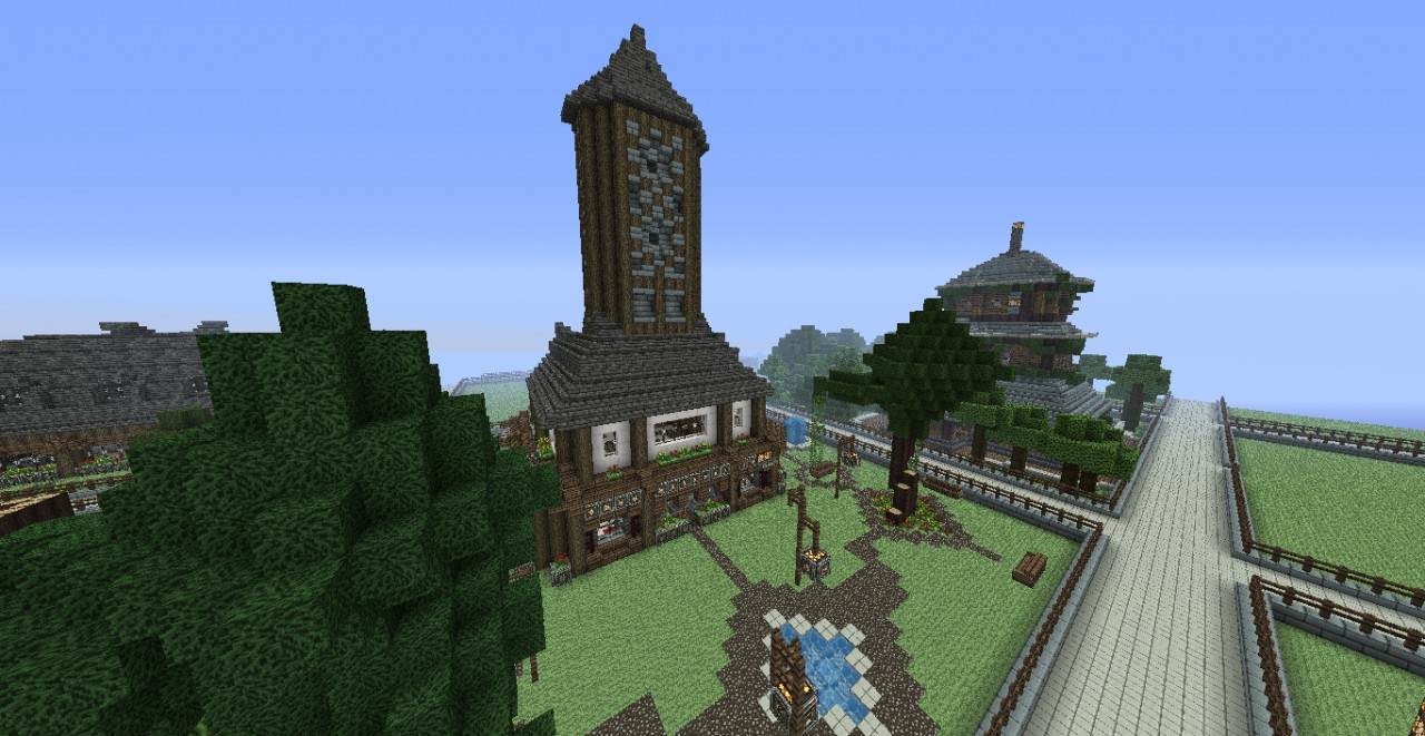 Medieval Clock Tower Minecraft Medieval House With Cl...