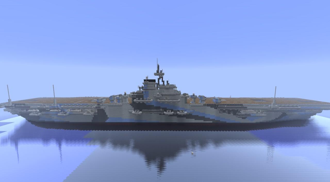 Aircraft Carrier USS Ticonderoga CV 14 (1:1) Minecraft Project