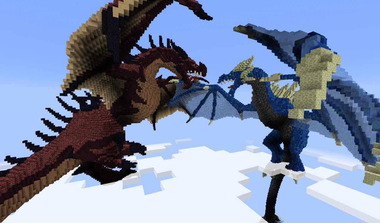 Dragons Merceron And Perinthus Minecraft Project