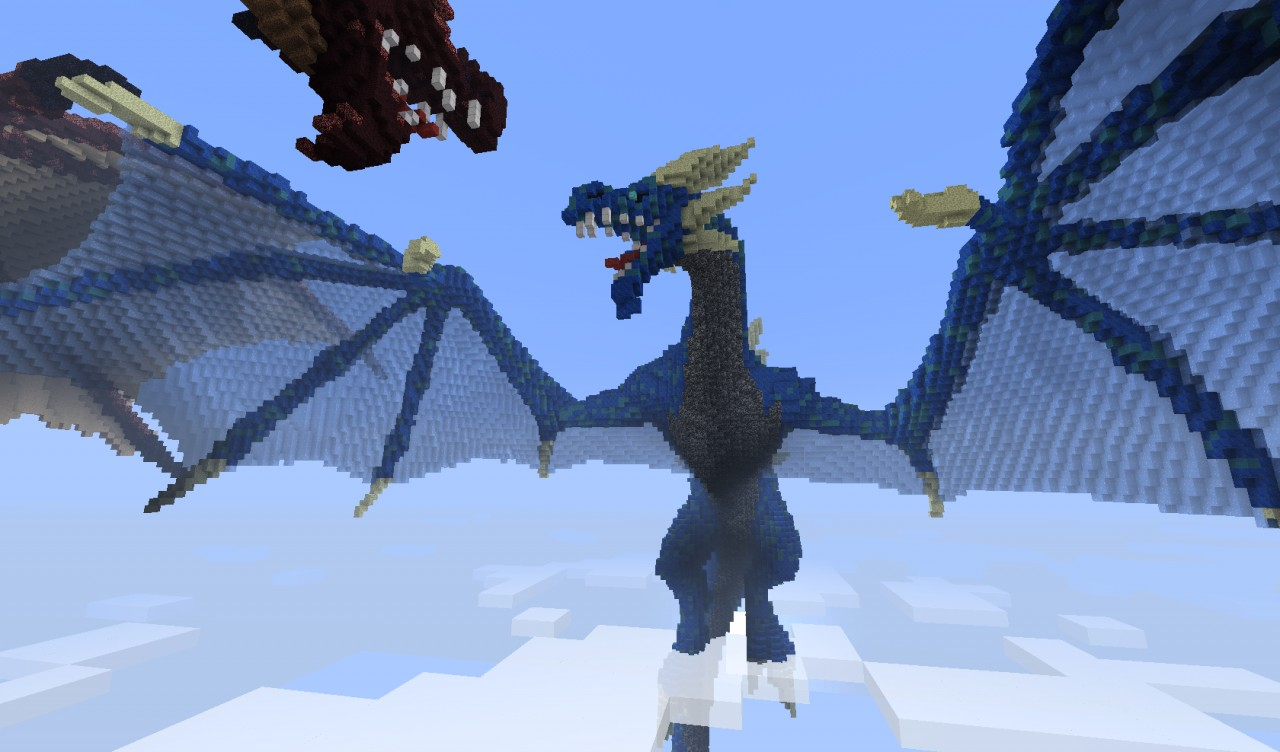 How To Build A Dragon Fighting Person In Minecraft