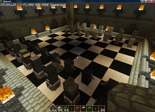 Wizard Chess Chamber beneath the castle