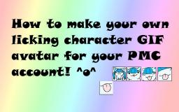 Tutorial to making a cute licking character GIF avatar! Minecraft