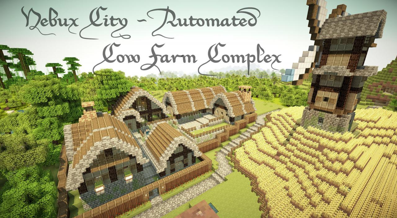 Automated Cow Farm Complex Minecraft Project