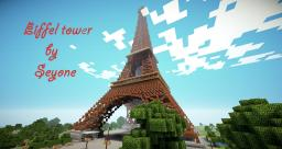 Eiffel tower (over 210 blocks height)!! Minecraft Map & Project