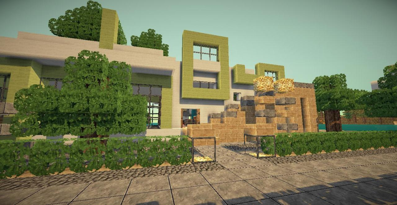 Beach house desert home style minecraft project for Beach house designs minecraft
