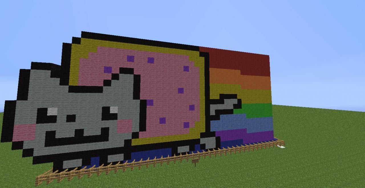 Pin Minecraft-pixel-art-nyan-cat-«-matheus-debull on Pinterest