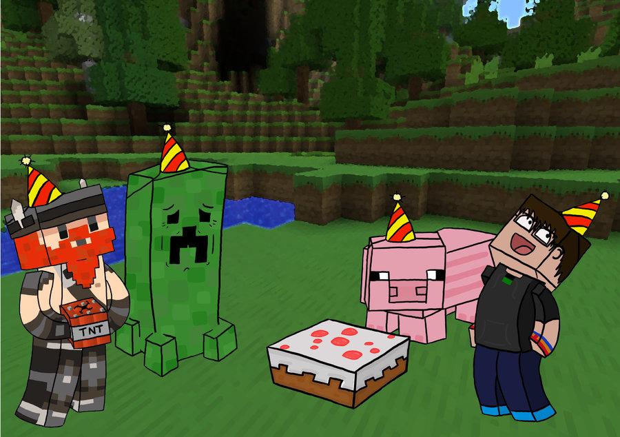 Minecraft Birthday Cake Skin