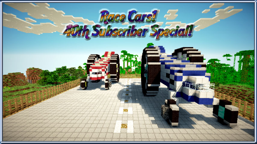 Race Cars Subscribers Special Schematic Minecraft Project