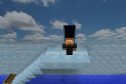 The final scene of The Truman Show Minecraft Project