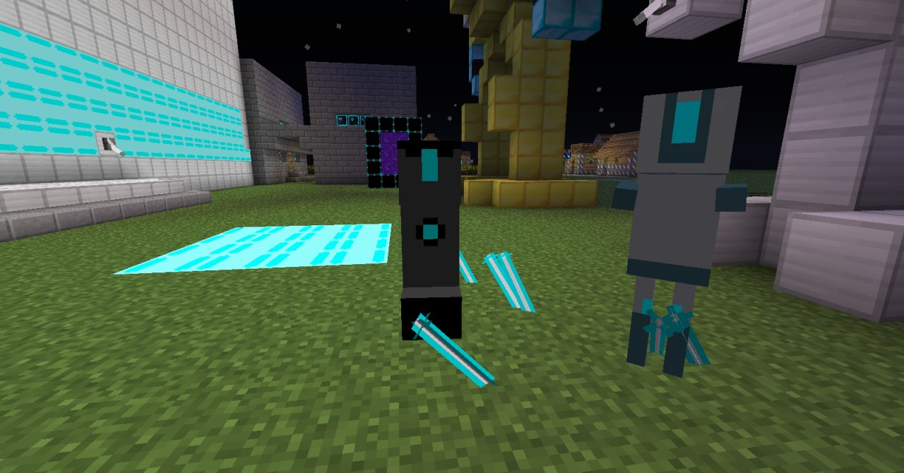 Creeper Drone. The Skeleton next to it has outdated textures