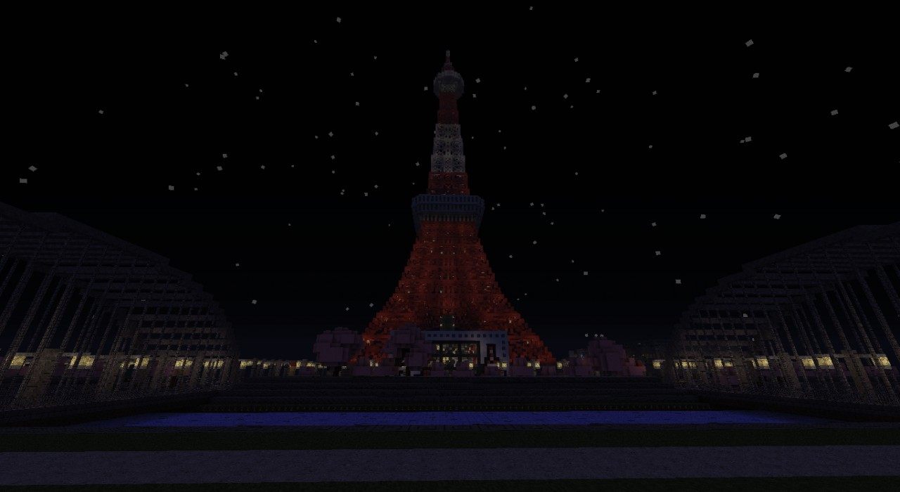 Tokyo Tower from river side