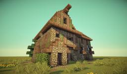 Medieval Barn/House Minecraft Map & Project