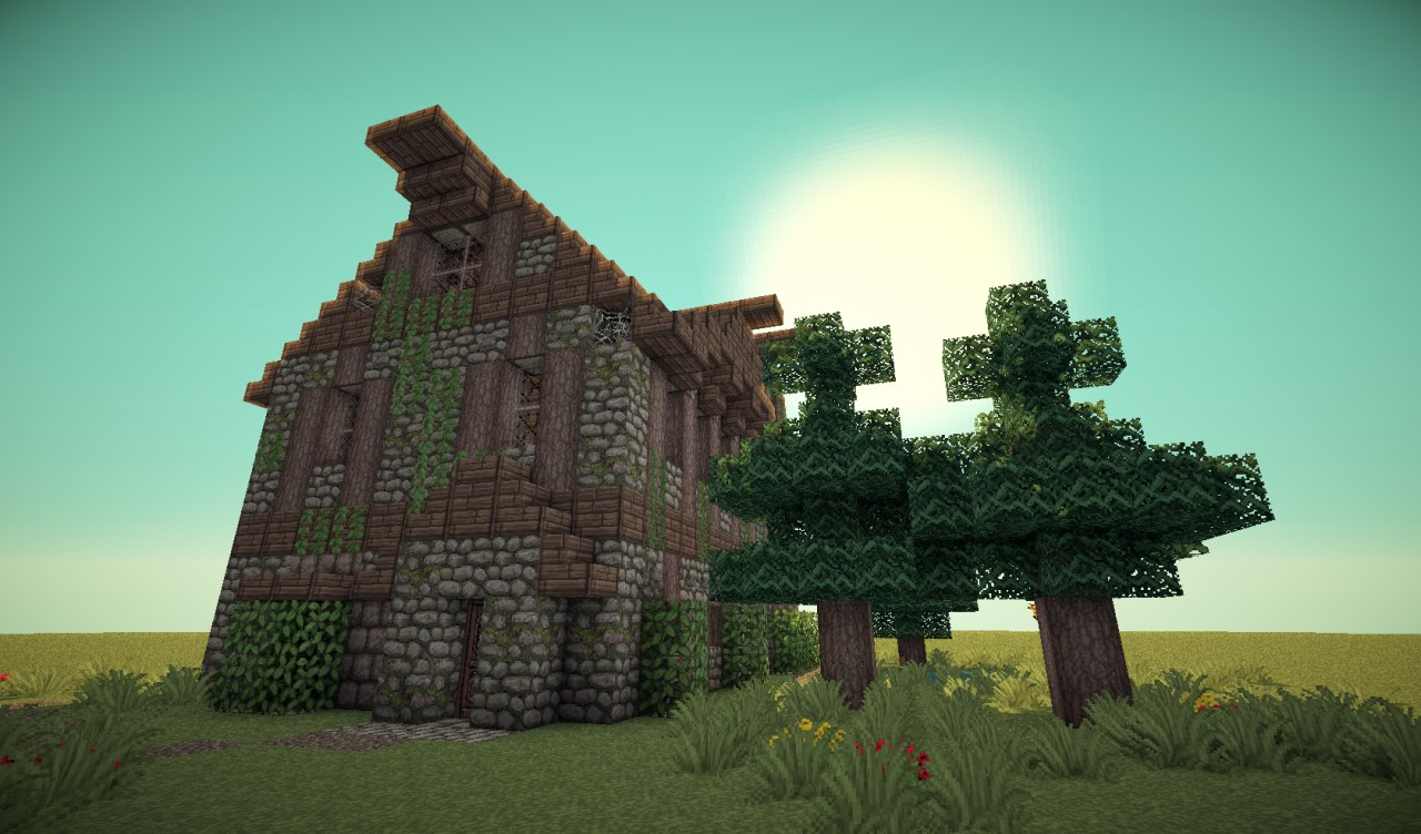 Medieval Barn House Minecraft Project