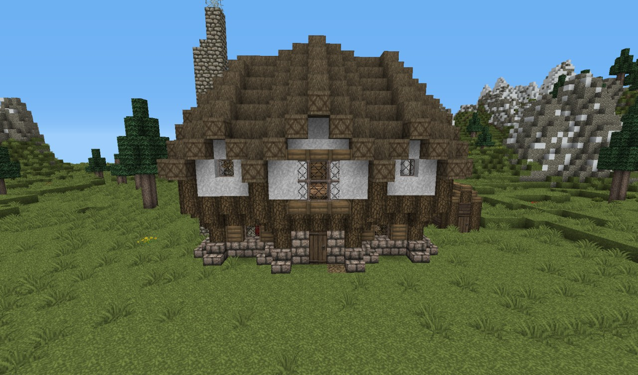 Cottage Minecraft Project for Medieval Cottage Minecraft  587fsj