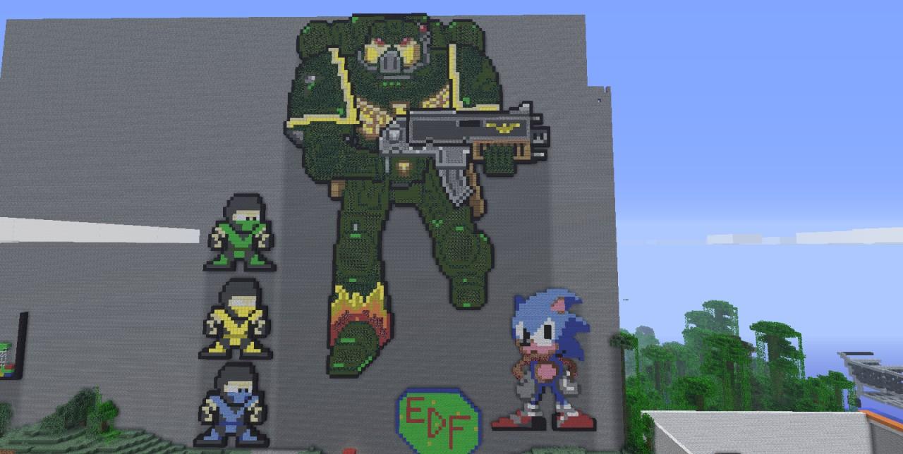 Space Marine Warhammer 40k Minecraft Map
