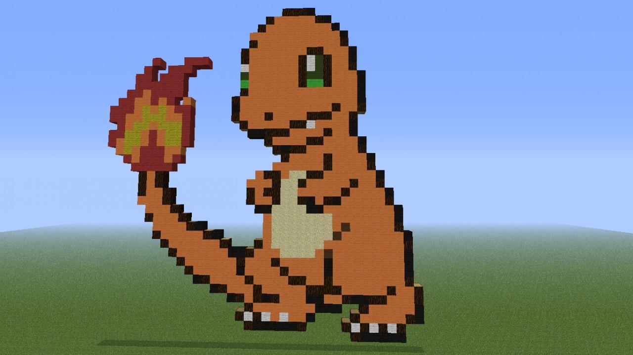 Pokemon Pixel art Minecraft Project