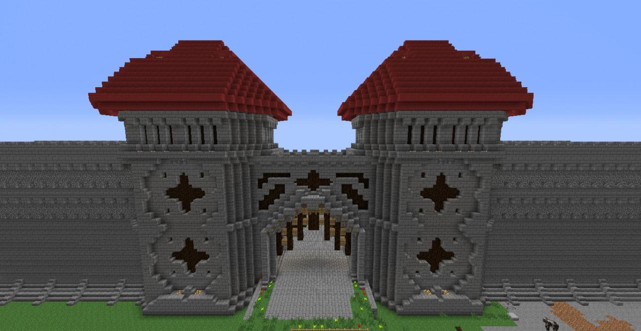 Castle Door Minecraft Minecraft Castle Gate With Functional