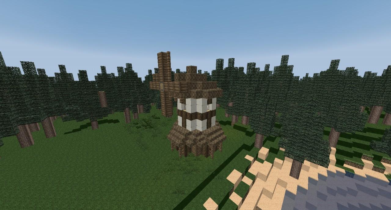 Minecraft Medieval Windmill