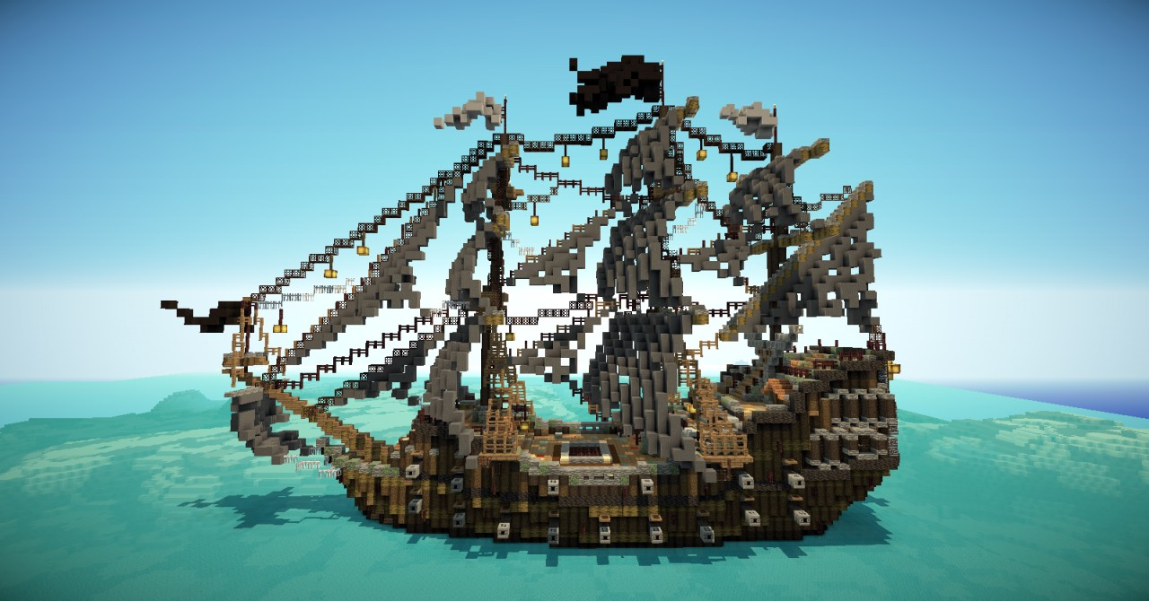 Minecraft how to make a pirate ship videos