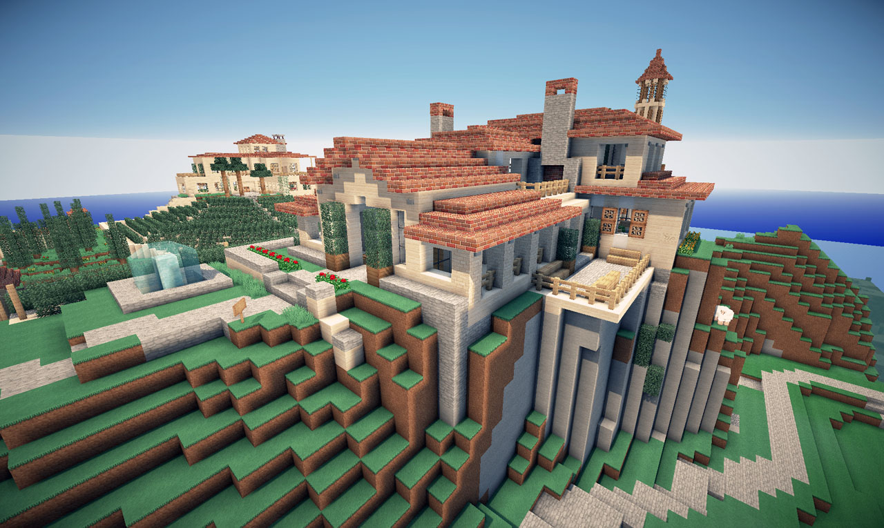 Italian villa on world of keralis minecraft project