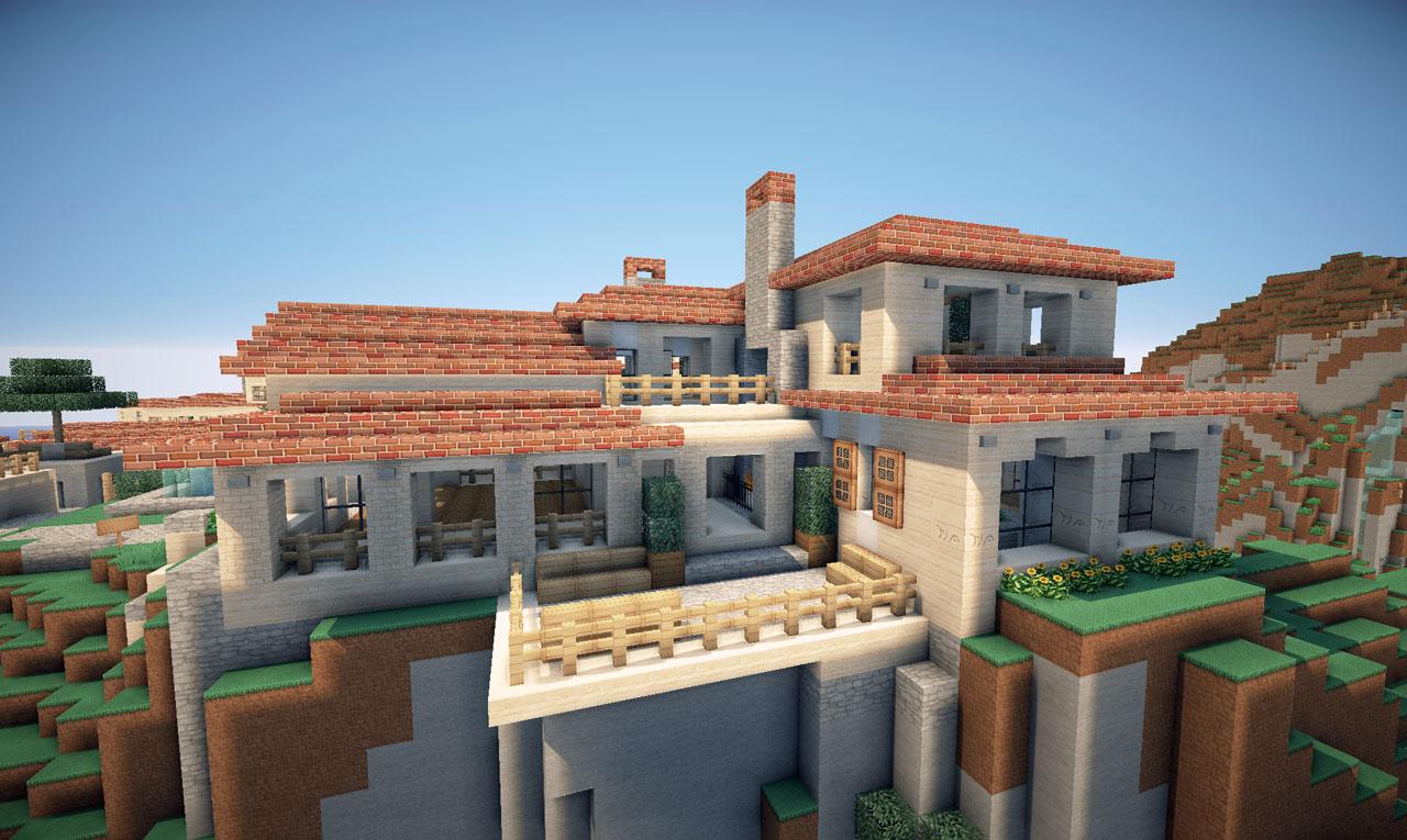 italian villa on world of keralis minecraft project. Black Bedroom Furniture Sets. Home Design Ideas