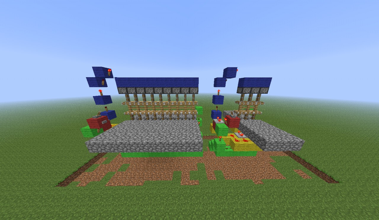 how to make a gate in minecraft with redstone
