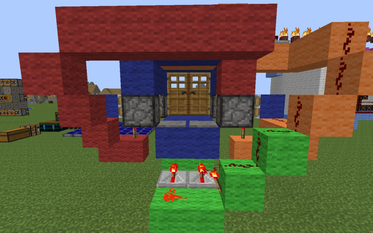 how to make an automatic door on minecraft