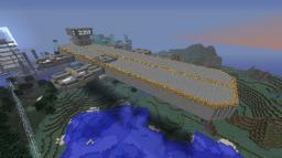Flying aircraft carrier Minecraft