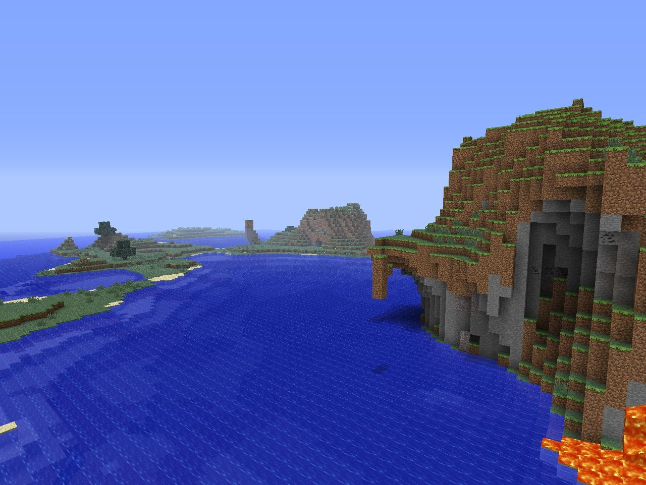 Cool Water Landscape Minecraft Map