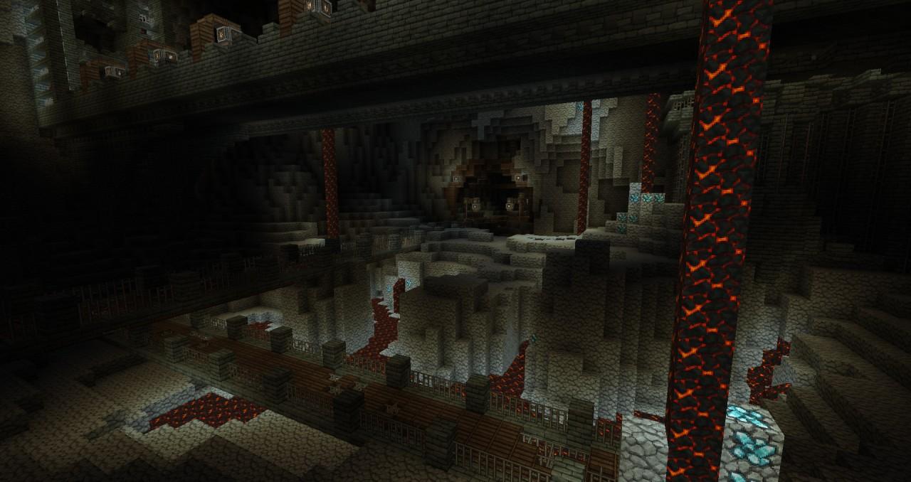 minecraft how to build an underground fortress