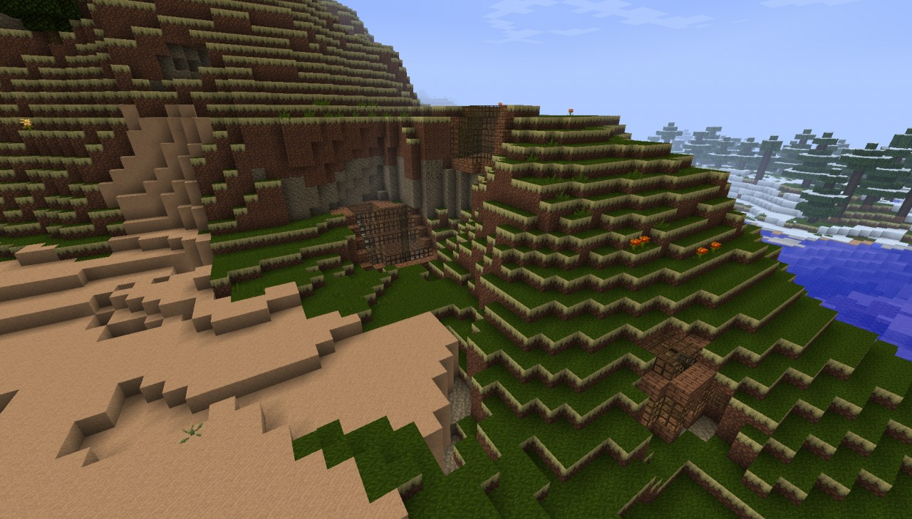How to build a house inside a mountain in minecraft how for Building a house in the mountains
