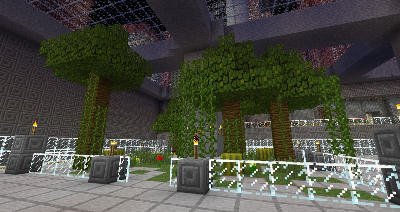 A parkour course in one of the mcsg.in servers.