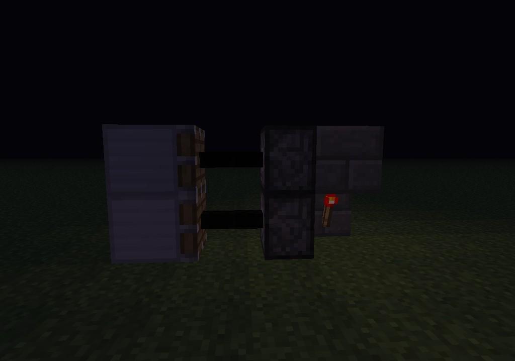 Piston Door Minecraft 2x1 2x1 Piston Door Minecraft