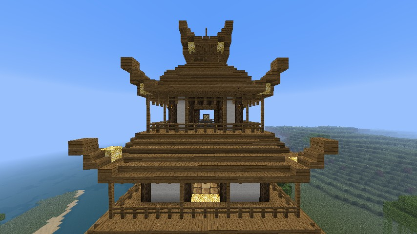 Japanese Temple Pagoda Minecraft Project