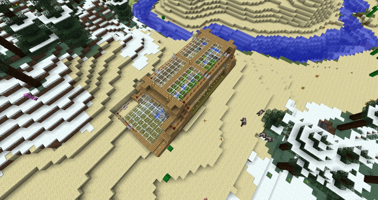 minecraft how to make a automatic farm
